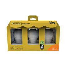 Kit x 3 Bombillos LED Vive Descansar y compartir 11W Luz cálida