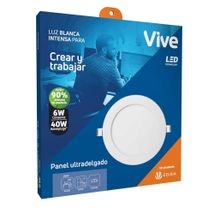 Panel LED Incrustar Vive 6W Luz blanca