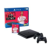 Play Station Slim 1TB  + 2 controles