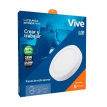 Panel LED Sobreponer Vive 18W Luz blanca