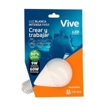 Bombillo LED Vive Crear y Trabajar 9W Luz Blanca