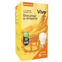 Bombillo LED Vive Empaque Clásico 9W Luz cálida