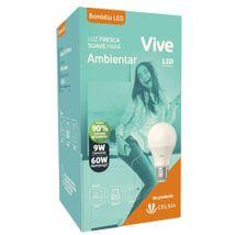 Bombillo LED Vive Empaque Clásico 9W Luz fresca
