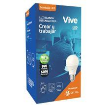 Bombillo LED Vive Empaque Clásico 9W Luz blanca