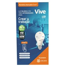 Bombillo LED Vive 9W Atenuable 3 en 1 Empaque Clásico DIMMER