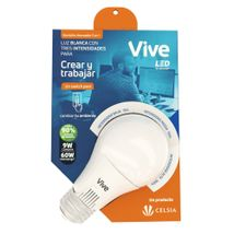 Bombillo LED Vive 9W Atenuable 3 en 1 Empaque Térmico DIMMER