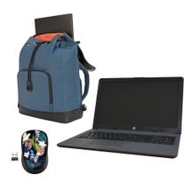 Combo Portátil Hewlett Packard 255 G7 HD + Morral + Mouse inalámbrico diseño floral