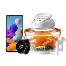Combo Celular Samsung Galaxy A21S + Reloj Smart Watch kalley + Horno Halogeno Kalley 12 Lts