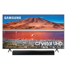 Combo One Box Televisor Samsung 55 pulgadas UHD 4K Smart TU7000 + Barra de Sonido HW-T400/ZL