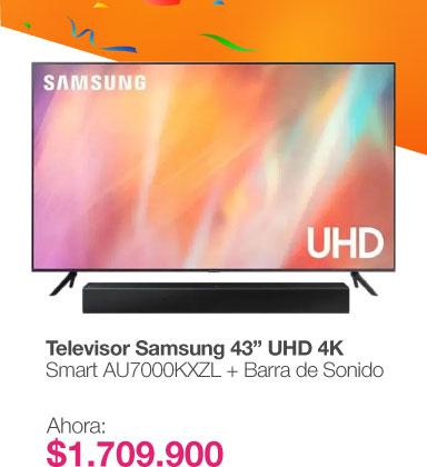 /televisor-samsung-43-pulgadas-uhd-4k-smart-au7000kxzl-barra-de-sonido-hw-t400zl/p